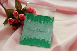 Green Christma Snowflakes Self-adhesive Gift Food Packing bag 10x11cm ,Cellophane Bag, Cute Biscuit Plastic Bag (300pcs)