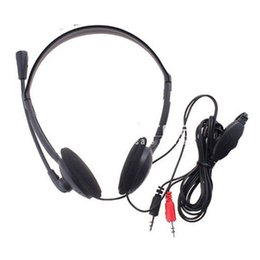 Wholesale XTY mm PC Microphone Headphone Headset MSN Skype Talk for Tablet PC Laptop Desktop Accessories
