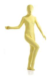 Wholesale-yellow Lycra Spandex Zentai Suits catsuit
