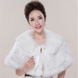 Pretty Ivory Matching With Wedding Dresses Winter Protection Decorations Faux Fur Bridal Shawl Suitable For Various Dresses Wraps