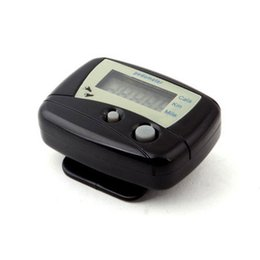 Wholesale Black LCD Pedometer Step Calorie Counter Walking Distance Sport Pedometer