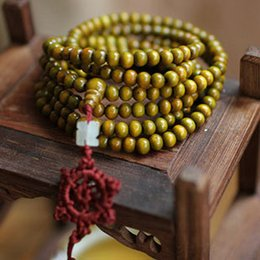 Wholesale Pieces Natural Green Sandalwood MM Prayer Beads Multilayer Bracelet for Women Men Fortune bringing Jewelry