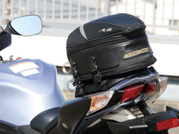New arrival Rough & road motorcycle rear seat package black carbon fiber bag tail bag