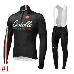 Wholesale 2014 castelli long sleeves cycling jersey Autum winter Fleece None Fleece cycling jerseys bib none bib shorts both for man and women