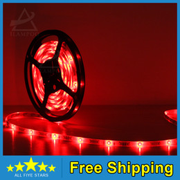 Wholesale-300 Leds 10M Led Strip lights SMD 5050Single color Horse racing flow led strip Waterproof DC 12VFree Shipping( High quality )