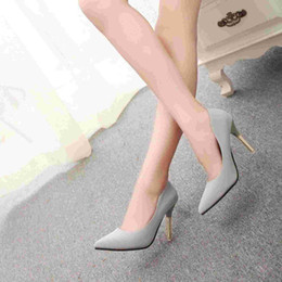 2015 Korean sexy elegant minimalist tip light ultra high heel shoes women's shoes in the workplace a solid color high heels