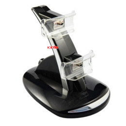xbox dual Rebajas Dual USB Charger Charger Dock / Station Soporte para Sony PlayStation 3 PS3 Negro 0.25-CB02H