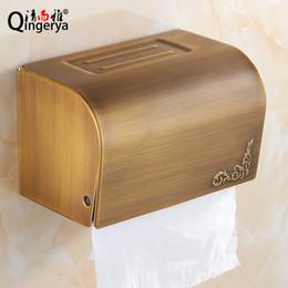 Wholesale Clean and Yaou whole retro copper bathroom towel rack antique toilet toilet paper cassette tray pumping rewinder