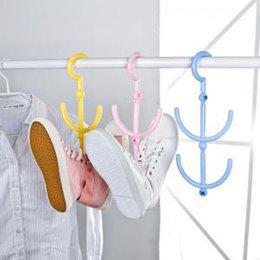 Wholesale 3pcs Multifunction Conduplicate pothook sun drying shelf Clothes hooks Shoes hook grocery bag holder