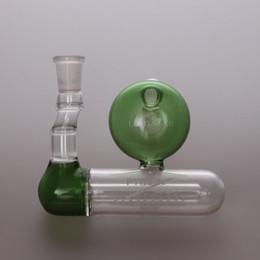 Green Pyrex 14.4mm glass Ashcatcher Glass Bong Perculator Water Pipes Faberge Egg Glass Water Inline Smoking Pipes Bongs Accessories 162A