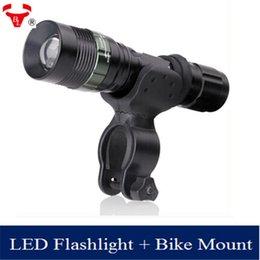 Wholesale XM L T6 lm zoomable bike light rechargeable tactical flashlight mini lanternas LED shocker maglite torch penlight Bike mount