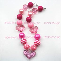Valentines Chunky Children Girls Bubblegum Chunky Necklace Girls Necklace CB540