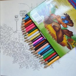 Wholesale 24 color Art Colored Pencils Drawing Pencils Wood Pencils for Secret Garden Artist Sketch Kids Gift