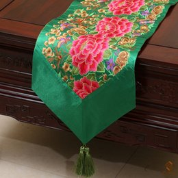 New Fine Hand Embroidered Patchwork Decorative Table Runner Dinner Party Chinese style High grade Silk Brocade Table Cloth