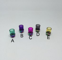 Glass drip tip tips rainbow Stainless Steel Colorful Pyrex Wide Bore 510 Atomizer Mouthpieces for ego atomizer kraken CE4 rda rba vaporizer