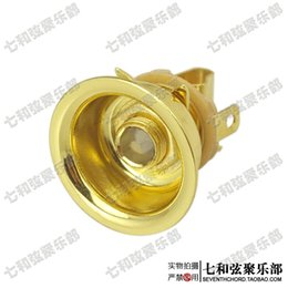 Wholesale Golden black silvery round cup shape TL electric guitar socket TL jack audio output socket connecting hole