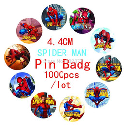 Wholesale 2015 Time limited Patches Military All free Shippping cm Spider Man Design Badge pin Badg tin Badge button Badge