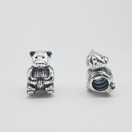 TEDDY BEAR CHARM DIY Beads Solid 925 Silver Not Plated Fits Pandora Bracelet&Charms