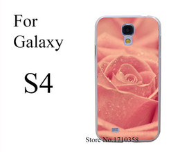 Wholesale-pink macro flower nice Transprent Hard Case Cover for Samsung Galaxy S6 & Edge S5 & Mini S3 & Mini S4 & Mini