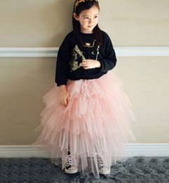 Baby Girls Ruffles Layers Tulle Tutu Skirts Pink Color Cake Dresses Western Party Dress Free Shipping