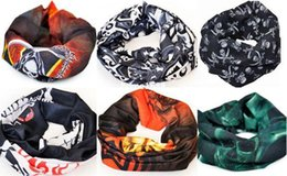Free shipping Skull Design Multi Function Bandana Ski Sport Motorcycle Biker Scarf Face Mask 10pcs lot