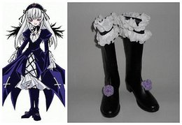 Wholesale Suigintou Cosplay Costume - Wholesale-2015 Special Offer Top Fashion Ankle Sapatos Femininos Autumn Boots Rozen Maiden Suigintou Cosplay Costume Boots Boot Shoes Shoe