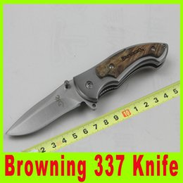 Top quality Browning knife 337 Pocket knives hunting knife Pocket Folding knife knives outdoor gear camping knives cutting tool 673X