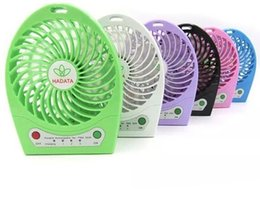Wholesale F95A Rechargeable USB Mini Fan Portable Fan Rechargeble Battery fan Powered Outdoor Camping office Cooler
