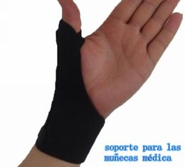 Wholesale 1pc Elastic Thumb Wrap Hand Palm Wrist Brace Splint Support Arthritis Pain Sport Training Thumb Fitted Correction LA675705