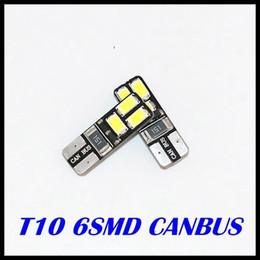 quality & high sales Free shipping Car Auto LED T10 194 W5W Canbus 6 smd 5630 5730 LED Light Bulb No error led light