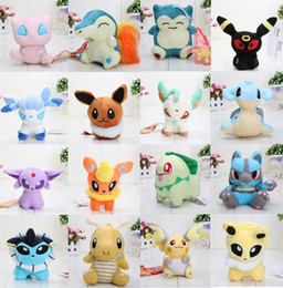 Janpanese Anime 16 Different style Pikachu Pocket Plush Character Soft Toy Stuffed Animal Collectible Doll in opp bag