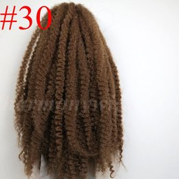 Afro Kinky Marley Braid Hair 20inch 100g #30 Auburn Brown 100% Kanekalon Synthetic Braids twist hair 7colors