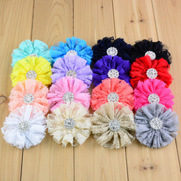 """2.7"""" Lace Flower Baby DIY Hair Accessories Flower Children's cloth Headband Accessories 16 color can choose"""