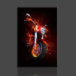 Wholesale 1 Pieces Of Wall Art The motorcycle Modern Picture Print On Canvas Oil Paintings Home Decoration For Living Room