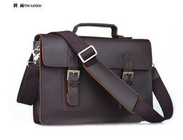 Wholesale Mens Genuine Leather Business Handbag Briefcase Laptop Notebook Bag Messenger Shoulder Business Bag Tote