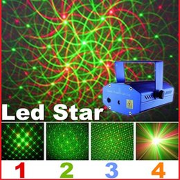 Wholesale 4 In Automatic Voice Control Mini Laser Projector Light Lighting Disco Stage Xmas Party Show Club Star Bar Tripod