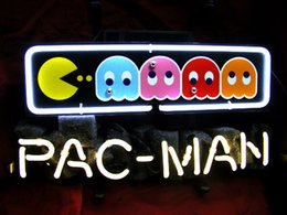 Wholesale-PACMAN VIDEO GAME BEER BAR NEON LIGHT SIGN if199