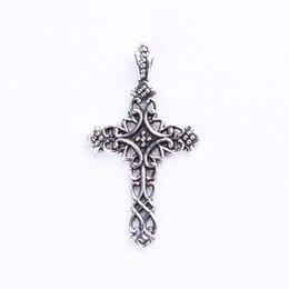 150pcs Antique Silver Bronze Peace Hlollow Flower Cross Charms Pendants Jewelry Making DIY Crafts Handmade Ydlsp 371