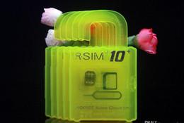 Wholesale unlock software unlock gsm phone R SIM RSIM rsim10 puls unlock card for iphone s plus s IOS7 X X AT T T mobile Sprint WCDMA