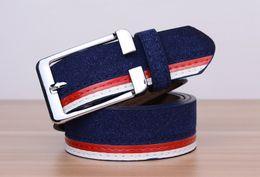 New Mens Dress Belt Canvas stripe Luxury Casual Waistband Luxury Mens Waist Strap Belt Leather Automatic Buckle Belt