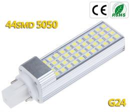 Dropshipping New design G24 LED PL lamp 11W 5050 SMD 44LED Bulb Lamp Cool|Warm White 85V-265V Free Shipping 10pcs lot