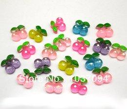 Wholesale 100 Mixed Resin Cherry Flatback Cabochon Scrapbook Fit Phone Embellishments diy wall sticker