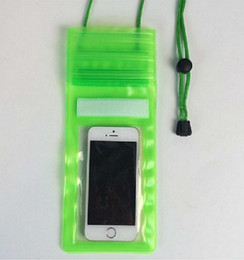 Wholesale Nuevo caso de PVC transparente bolsa bolsa impermeable subacuática bolsillo con cremallera Cuello cordón para el iphone s s Samsung Galaxy S4