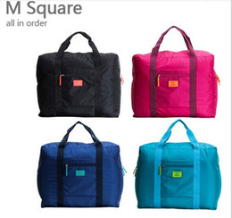 Wholesale Foldable Nylon Suitcase Hand Luggage Cabin Small Wheeled Travel Folding Flight Bag Large Capacity Case Travel Insert Handbag LB4