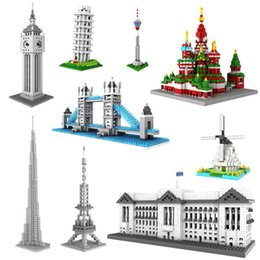 Wholesale Germany LOZ Diamond Building Blocks World Architecture Assemble Model ABS Plastics cm High Educational Toy Gift
