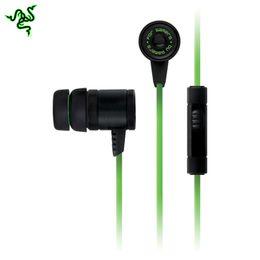 Wholesale-2015 Lateset Razer Hammerhead Pro In Ear Gaming Headset Earphone Headphones With Microphone Noise Isolation Stereo Bass 3.5mm