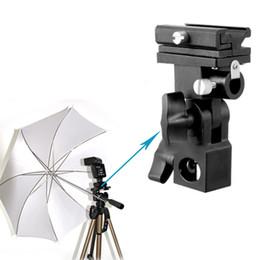 Wholesale B Type Flash Hot Shoe Adapter Trigger Umbrella Holder Swivel Light Stand Bracket