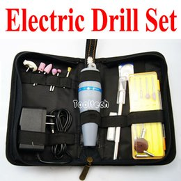 Wholesale Freeshipping New Mini Portable Electrical Drill Electrodrill Grind Polish Cutter Electric Drill Tool Parts Set DC V V