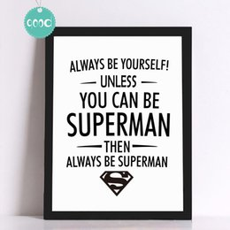 Wholesale Superman Quote Canvas Art Print Poster Wall Pictures for Home Decoration Frame not include FA308