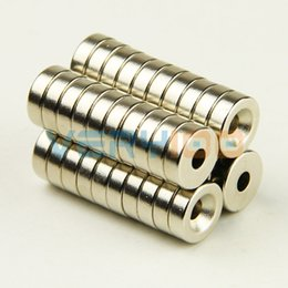 Wholesale 50pcs N35 Super Strong mm x mm Hole mm Disc Magnets Rare Earth Neodymium order lt no track